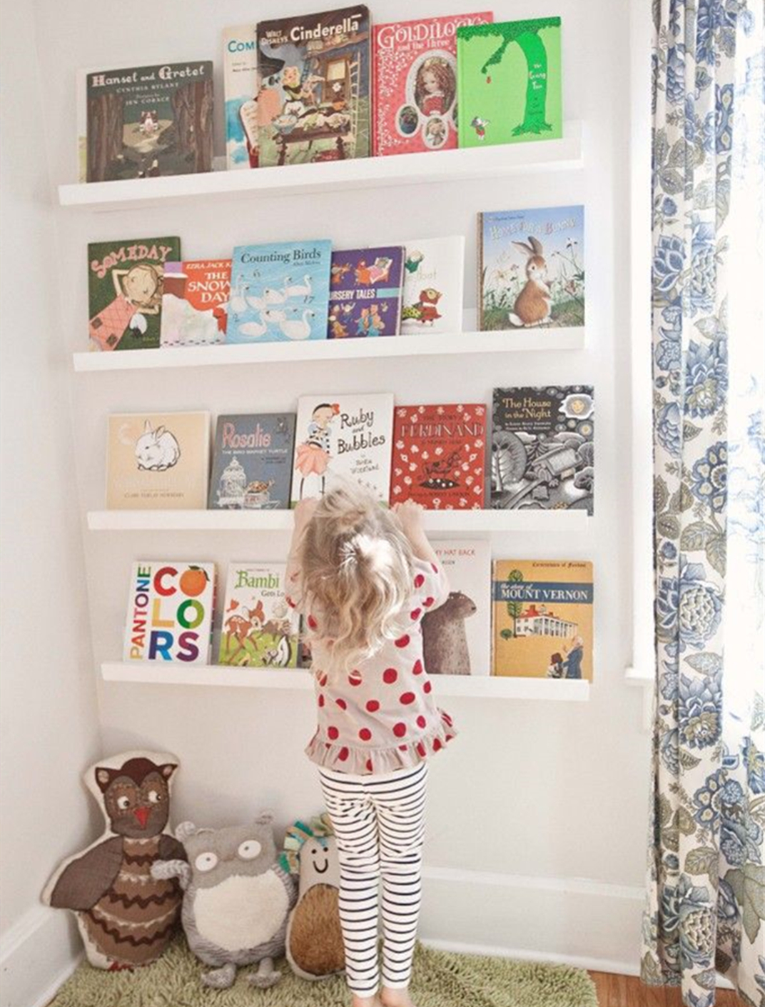 A Bookcase is a Great Option for the Kid's Room