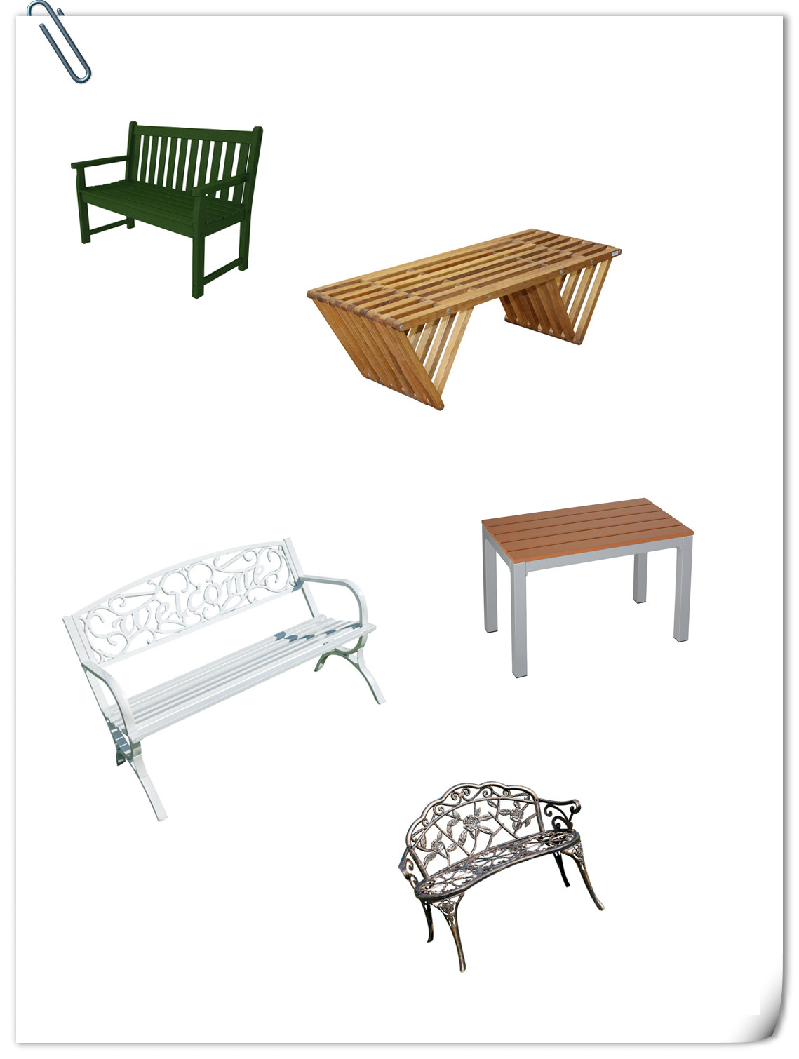 5 Robust and Beautiful Outdoor Benches